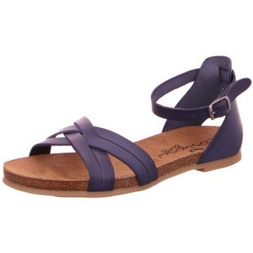Mustang Komfort Sandale blau