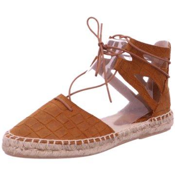 SPM Shoes & Boots Espadrilles Sandalen braun