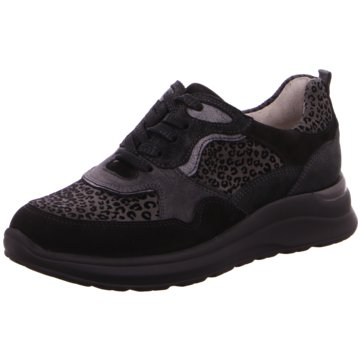Waldläufer Sneaker Low schwarz