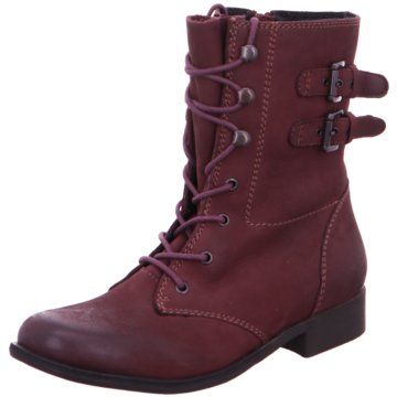 SPM Shoes & Boots Schnürstiefelette rot