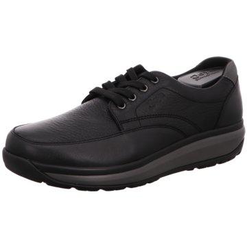 Joya Komfort Schnürschuh schwarz