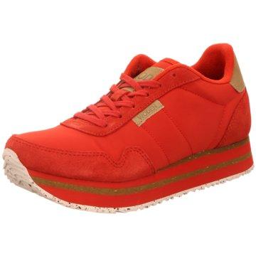 Woden Plateau Sneaker rot