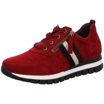 Gabor Bequeme SchnürschuheSneaker rot