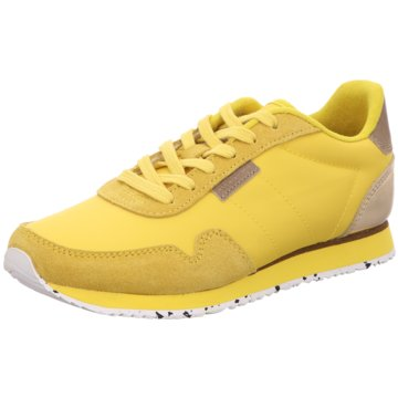 Woden Sportlicher SchnürschuhWoden gelb