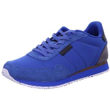 Woden Sportlicher Schnürschuh blau
