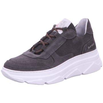 Black Plateau Sneaker grau
