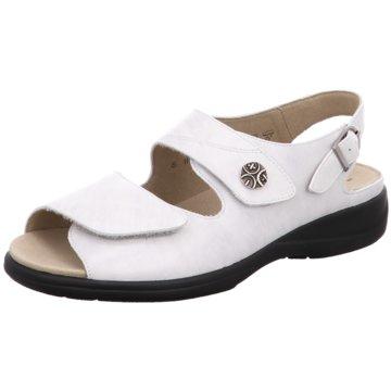 Solidus Komfort Sandale weiß