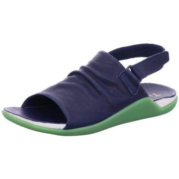 Think Bequeme Sandalen blau