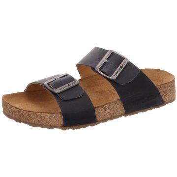 Haflinger Komfort Pantolette blau