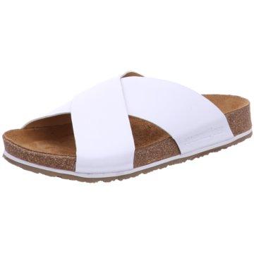 Haflinger Komfort Pantolette weiß