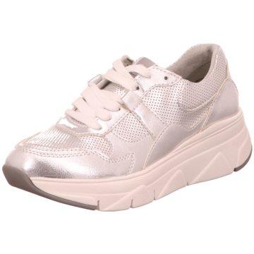Tamaris Plateau Sneaker silber