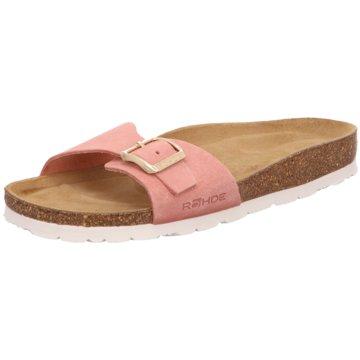 Rohde Komfort Pantolette rosa