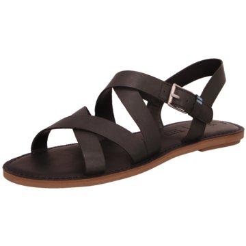 TOMS Top Trends Sandaletten schwarz