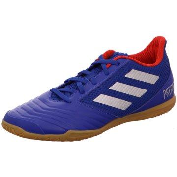 adidas Hallen-SohlePredator 19.4 IN Sala blau