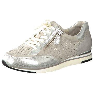 Gabor Sportlicher SchnürschuhSneaker silber