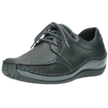 Wolky Komfort Schnürschuh grau