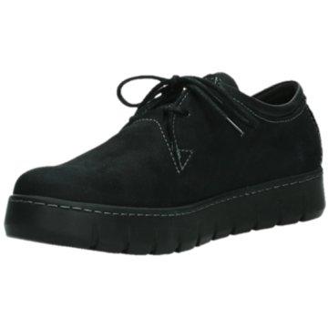 Wolky Komfort Schnürschuh schwarz