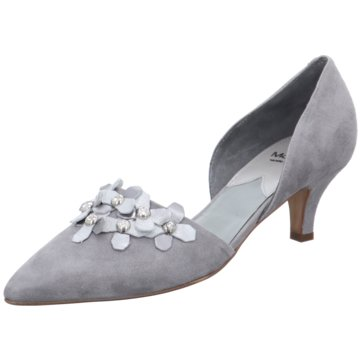 Maripé Flacher Pumps grau