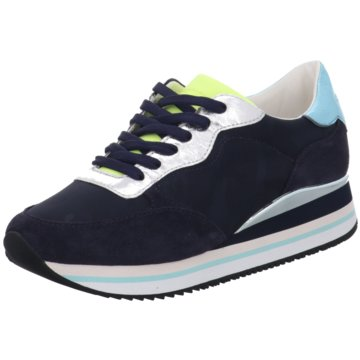 Crime London Sneaker Low blau