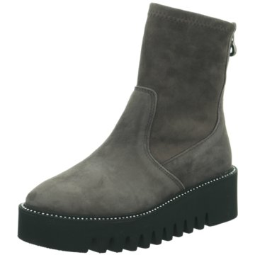 Alpe Woman Shoes Plateau Stiefelette grau
