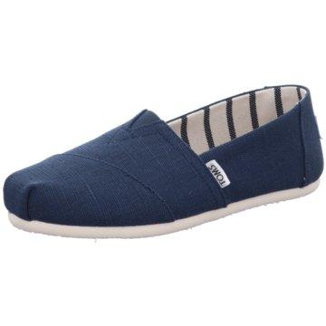 TOMS Espadrille blau