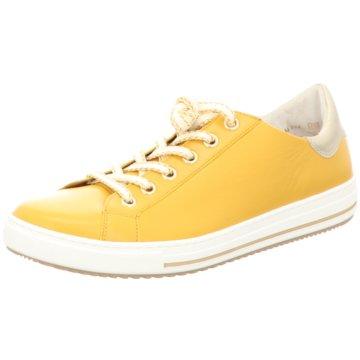 Gabor comfort Komfort Schnürschuh gelb