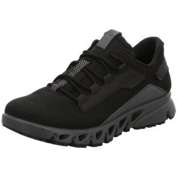 Ecco Sportlicher Schnürschuh schwarz