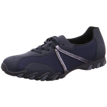 Rieker Sportlicher Schnürschuh blau