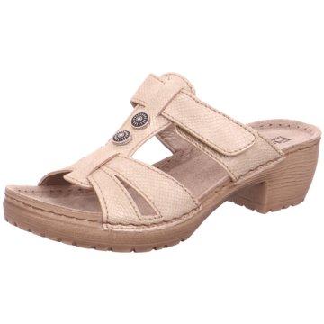 Fischer Schuhe Komfort Pantolette beige
