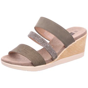 Hengst Footwear Keilpantolette oliv