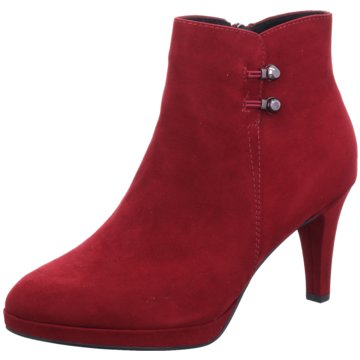 Marco Tozzi Plateau Stiefelette rot