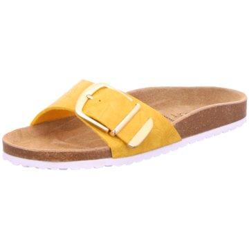 Indigo Komfort Pantolette gelb