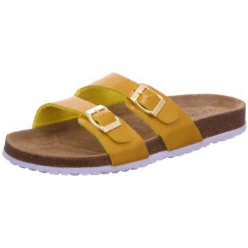 Indigo Klassische Pantolette gelb