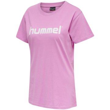 Hummel T-ShirtsGO Baumwolle LOGO T-SHIRT WOMAN S/S - 203518 rosa