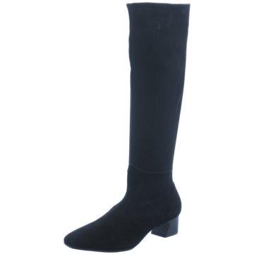 Perlato Overknee Stiefel schwarz