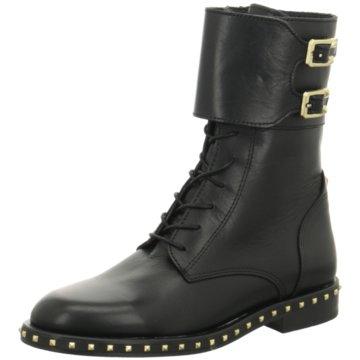 Alpe Woman Shoes Schnürstiefel schwarz