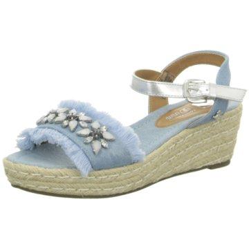 Tom Tailor Plateau Sandalette blau