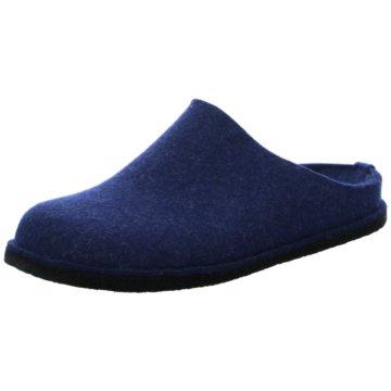 Haflinger Hausschuh blau