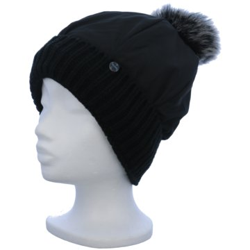 Seiden-Grohn Mütze Damen schwarz