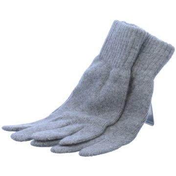 Seiden-Grohn Handschuhe grau