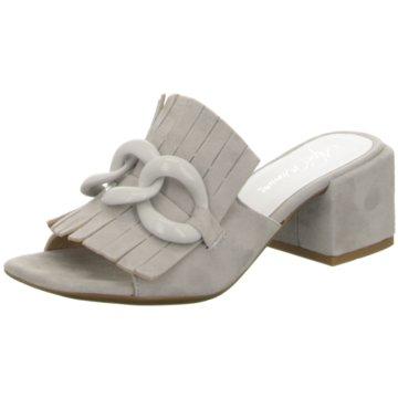 Alpe Woman Shoes Top Trends Pantoletten grau