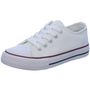 Indigo Sneaker Low weiß
