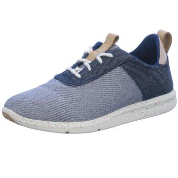 TOMS Sportlicher Schnürschuh blau