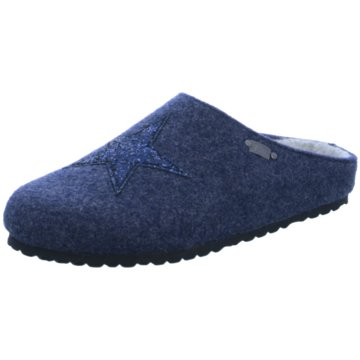 Indigo Hausschuh blau