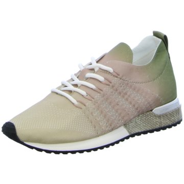 La Strada SneakerLaced up knitted oliv