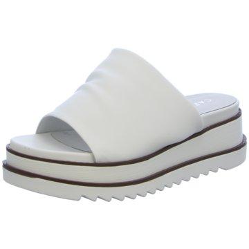 CAFèNOIR Plateau Pantolette weiß