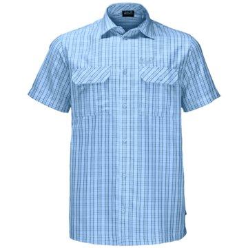 JACK WOLFSKIN KurzarmhemdenTHOMPSON SHIRT MEN - 1401042 blau