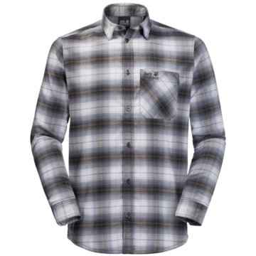 JACK WOLFSKIN LangarmhemdenLIGHT VALLEY SHIRT - 1402741-7681 grau