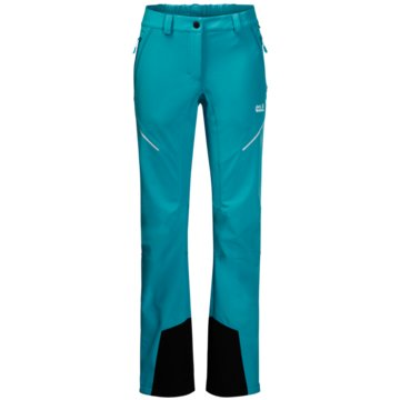JACK WOLFSKIN OutdoorhosenGRAVITY SLOPE PANTS WOMEN - 1504143-1221 blau