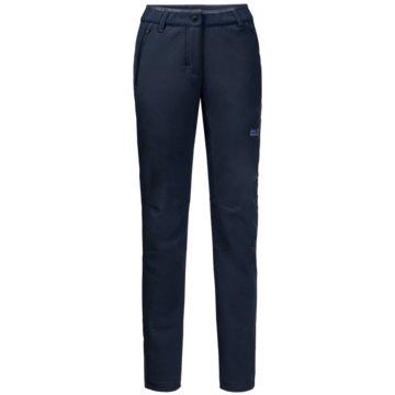 JACK WOLFSKIN OutdoorhosenZENON SOFTSHELL PANTS WOMEN - 1505111-1910 blau